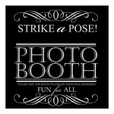 Wedding Photo Booth Poster Sign Customizable