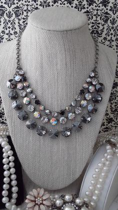 Hey, I found this really awesome Etsy listing at… Swarovski Crystal Necklace, Swarovski Jewelry, Crystal Jewelry, Swarovski Crystals, Chain Jewelry, Diy Necklace, Handmade Jewelry, Jewelry Crafts, Jewelry Art