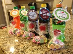 Great Valentine's Day ideas! I want to do something like this for the kidlets without the soda.