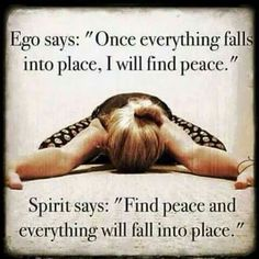 Find peace first