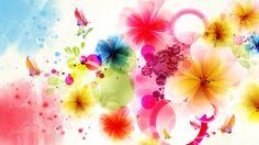 Flowers Vector Art Colorful Wallpaper