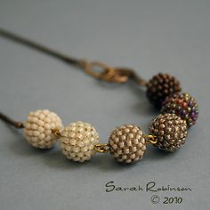Golden Beaded Beads Necklace - Bead a bead without the embellishments @Allison j.d.m Rapp