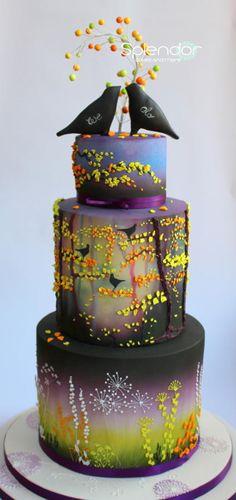 Enchanted Evening - Cake by splendorcakes