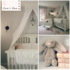@Kate Mazur Braddock McCullough This is an adorable pink and grey nursery! I definitely want a rocker