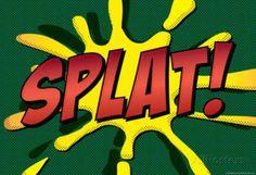 Splat! Comic Pop-Art Art Print Poster poster