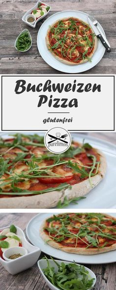 Buchweizen Pizza - Tomate Mozzarella - List of the best food recipe Pizza Recipe No Yeast, Homade Pizza Recipes, Pizza Recipes Pepperoni, Chicken Pizza Recipes, Paleo Recipes, Pizza Sin Gluten, Paleo Pizza, Veggie Pizza, Pizza Pizza