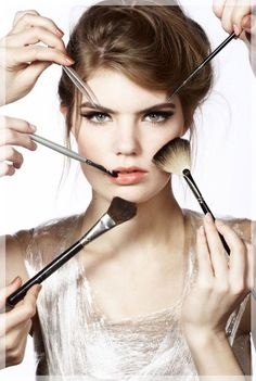 Wearing right type of make up is an art. You can not apply the same type of make up at the different times of the day. For an example your day time make up will Beauty Make-up, Beauty Secrets, Beauty Care, Fashion Beauty, Beauty Hacks, Beauty Products, Makeup Products, Work Fashion, French Products