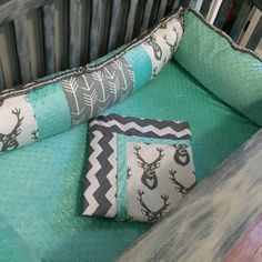 Custom baby bedding with deer arrows and by BabyKsBabyBedding