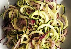 Courgette and red onion side salad with a very light honey mustard dressing | News | Lorraine Pascale