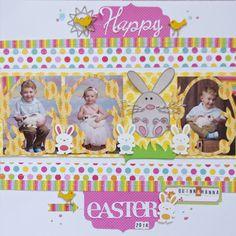 #papercraft #scrapbook #layout  Happy Easter - Scrapbook.com