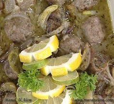 Kofta With Lemon Sauce