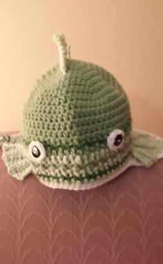 Adult crocheted fish hat