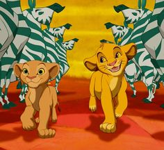 ♫ Oh, I just can't wait to be king! ♫ Lion King, Simba and Nala, January 2016