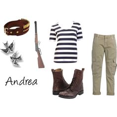 The Walking Dead Character Sets- Andrea, created by jj95 on Polyvore
