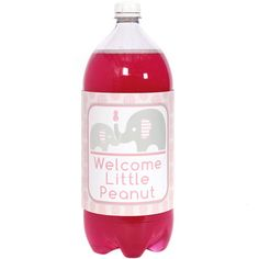 Pink Little Peanut Baby Shower; Little Peanut Drink Decorations; Elephant Decorations; Safari Baby Shower; Gender Reveal Shower; Noah's Ark by SimplyCreatedForYou6 on Etsy