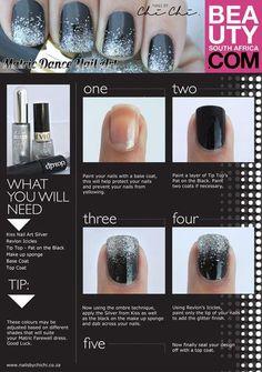 DIY - Glitter nail art tutorial.