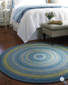 Great circular rug. Keep it from slipping on wood or tile with MacBond #tvgoods #home