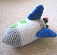 Free Crochet Pattern: Rocket Ship | Crochet Direct
