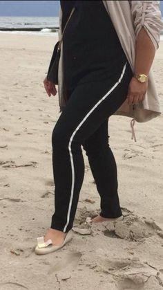 Spodnie z lampasem Cevlar BL01 kolor czarny - Big Sister