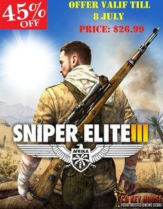 Big Weekend #Sale at Cdkeyhouse... Get 45% Discount on #Sniper Elite 3 Cdkey steam  Offer Valid Till: 8 July Offer Price: $26.99 Get the Deal Here: