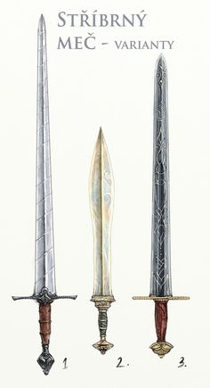 DrDII: Silver Swords von Merlkir – Jack Slack – Join the world of pin Fantasy Sword, Fantasy Weapons, Fantasy Art, Swords And Daggers, Knives And Swords, Sword Drawing, Types Of Swords, Sword Tattoo, Sword Design