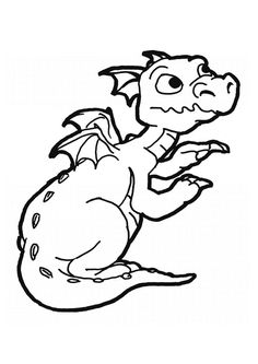 Cute Baby Dragon Coloring Pages pictures to colour Pinterest