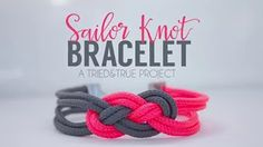 How To Tie A Paracord Chinese Clover Friendship Bracelet With Sliding Knot - YouTube