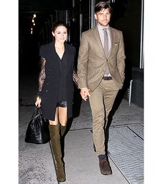 @Who What Wear - On a Date                 Keep your partner on their toes with sexy outfits that think out of the box. Here, Palermo steps out with fiancé, Johannes Huebl, in New York in leather shorts, a Rachel Zoe sleeveless coat, and Stuart Weitzman boots.