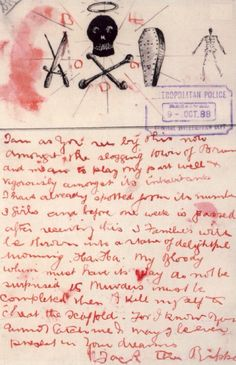 Jack the Ripper letter.