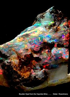 Boulder Opal from the Hayricks Mine near Quilpie, Qld. Australia