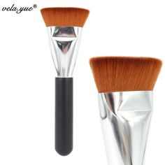 Professional 163 Flat Contour Brush Face Blending Blusher Makeup Brush