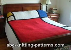 Mondrian Throw Pattern! I really want to make this.