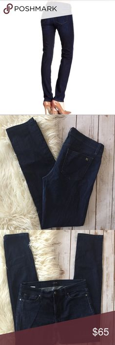 """Joe's Jeans Cigarette straight jeans Raylene wash These are fabulous dark wash straight cut jeans. Perfect quality closet staple piece. These are in a dark Raylene wash and Joe's Jeans Cigarette style. Perfect for everyday wear.  Measurements laying flat:  * Waist 16"""" * Inseam 32"""" * Rise 10""""  Condition/Flaws * Gently used, but still in excellent condition * No significant flaws (stains, rips, pilling Joe's Jeans Jeans Straight Leg"""