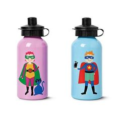Superhero bottles from Tiger Stores