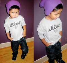 Ahh, way too cute not too! Baby swag:)