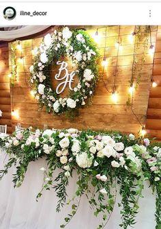 New Ideas Wedding Backdrop Rustic Grooms Wedding Table Setup, Bridal Table, Wedding Wall, Wedding Bride, Dress Wedding, Cheap Wedding Decorations, Rustic Wedding Backdrops, Wedding Venues, Romantic Wedding Colors