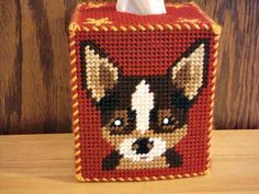 Chihuahua and Bulldog Tissue Box Cover plastic by ShanaysCreation