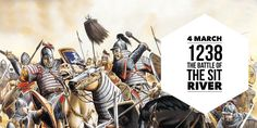 4 March The Battle of the Sit River is fought between the Mongol Hordes of Batu Khan and Yuri II of Vladimir-Suzdal Golden Horde, Christian World, Yuri, Russia, March, River, History, History Books, Historia