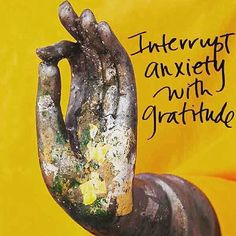 Interrupt anxiety with gratitude.                                                                                                                                                                                 More