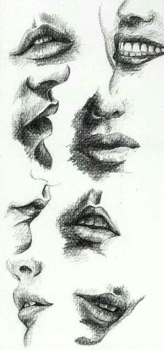 37 Lip Pencil Drawing Ideas - New Mouth Drawing, Life Drawing, Figure Drawing, Drawing Sketches, Painting & Drawing, Drawing Faces, Sketching, Drawing Ideas, Pencil Art