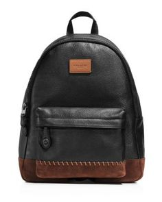 COACH Campus Leather Backpack. #coach #bags #backpacks #suede