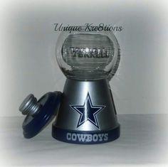 Dallas cowboys personalized candy jar