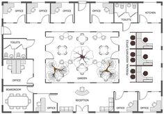 Office Floor Plan Office Layout Plan, Office Floor Plan, Office Space  Planning, Floor
