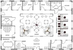 Office Floor Plan Office Layout Plan, Office Floor Plan, Office Space  Planning, Floor
