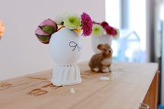 Easter decoration. Tattooed easter eggs and flowers...