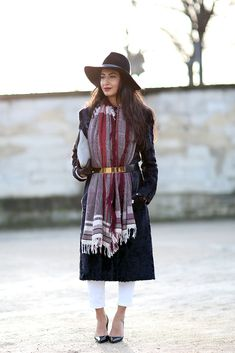 How To Dress Like A French Girl #refinery29  http://www.refinery29.com/63682#slide-7  Rad tip: Belt your scarf and your outerwear for a bundled-up look that's super sophisticated.