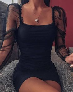 Glamouröse Outfits, Girly Outfits, Cute Casual Outfits, Stylish Outfits, Black Dress Outfits, Night Outfits, Pretty Dresses, Beautiful Dresses, Elegant Dresses