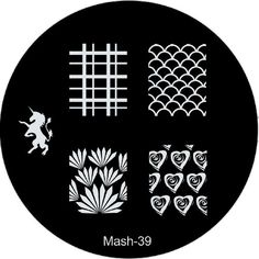 MASH Nail Art Stamp Stamping Image Plate No 39 - The hottest new set of image plates from the nail art experts at MASH are now available for single purchaes.  All Plates were designed and created from the ground up to introduce exciting new designs ... - Nail Art Equipment - Beauty - $3.99