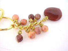Beaded Key Chain Jade Key Chain Purse Jewelry by oldandnew8, $16.00