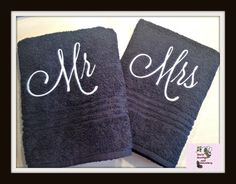 Hey, I found this really awesome Etsy listing at https://www.etsy.com/listing/191915951/mr-and-mrs-bath-towel-set